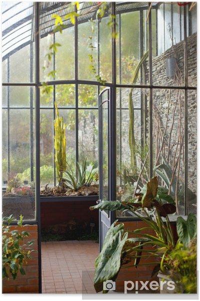 Véranda, serre, maison, intérieur, jardin, jardinage Poster • Pixers ...