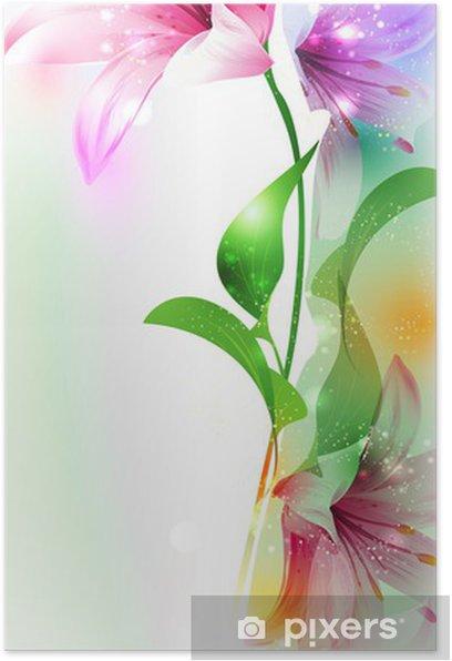 Póster Verano o primavera ilustración vectorial para el diseño fresco - Artes y creación