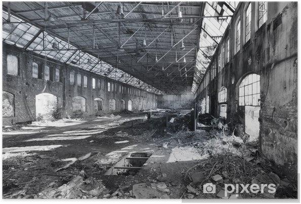 Poster Verlaten fabriekshal - Industriële en Commerciële Gebouwen
