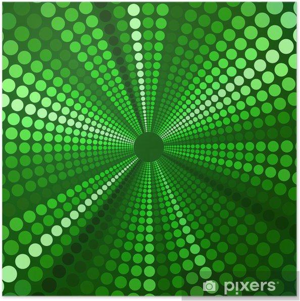 Poster Vert perspective fond - Arrière plans