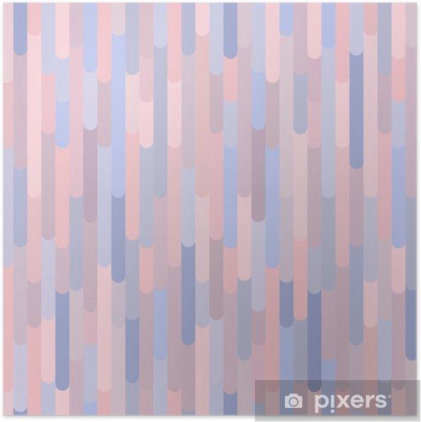 Poster Verticale strepen vector naadloze patroon. Achtergrond textuur in trendy kleuren 2016: rozenkwarts - Grafische Bronnen