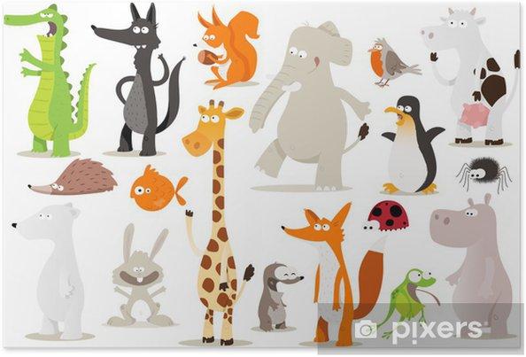 Poster Verzameling d'animaux pour enfants - Bestemmingen