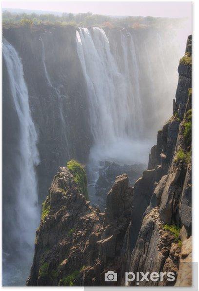 Poster Victoria Falls - Zimbabwe, en Afrique - Merveilles naturelles