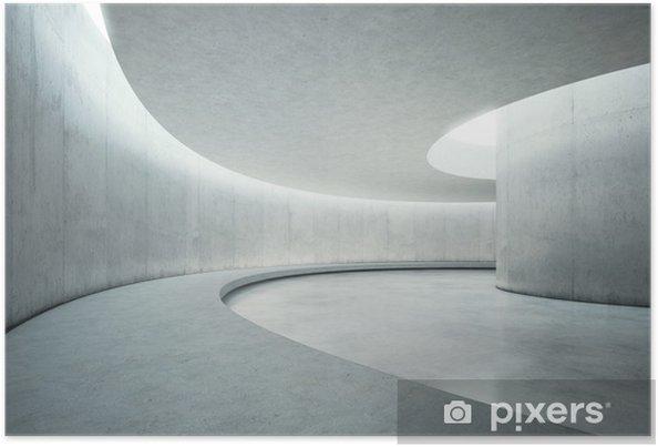 Poster Vide béton intérieur de l'espace ouvert avec la lumière du soleil - Magasins