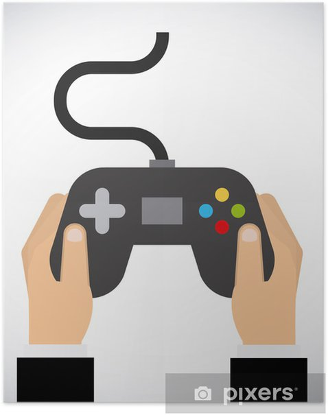 Video game design Poster - Electronic