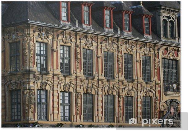 Poster Vieille bourse de Lille - Europe