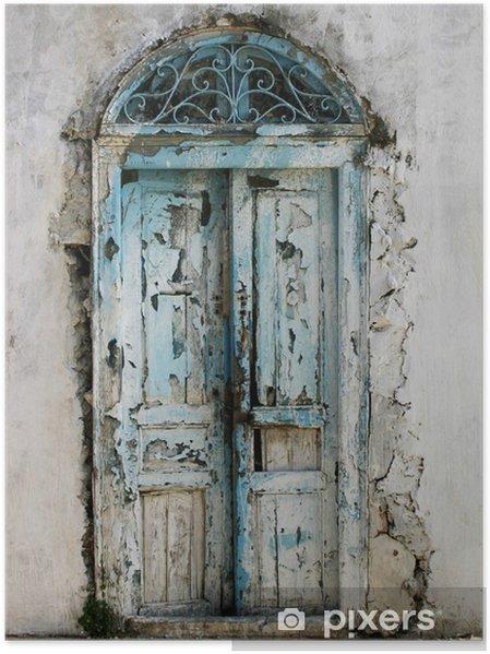 Poster Vieille porte tunisienne - Maisons et jardins