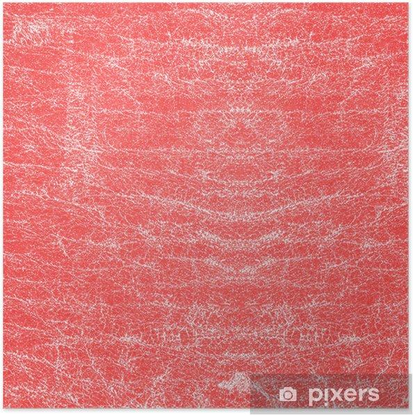 Poster Vieille texture en cuir rouge - Accessoires