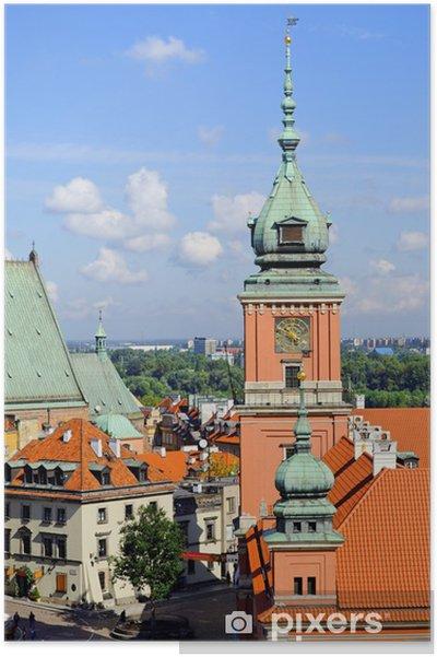 Poster Vieille ville à Varsovie -