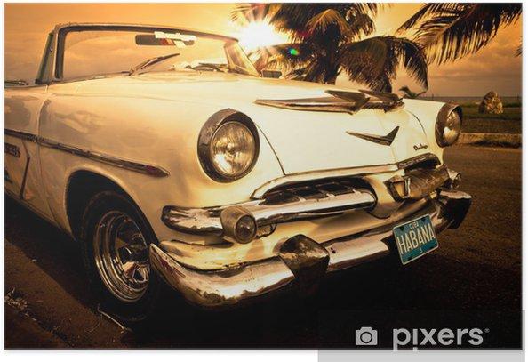 Vieille voiture américaine, Cuba Poster -