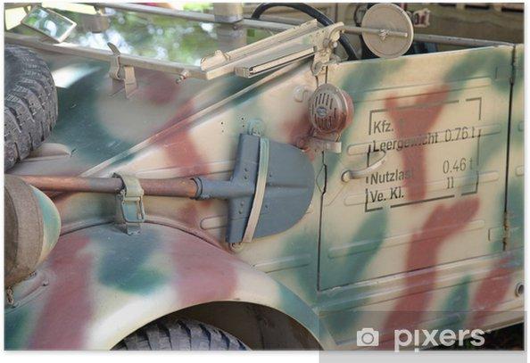 Poster Vieille voiture de l'armée de la seconde guerre mondiale - Europe