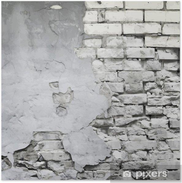 Póster Vieja arruinada pared de fondo vector - Temas