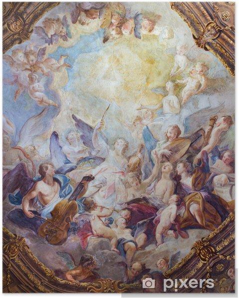 Poster Vienne - chœurs d'anges baroques fresque de Michaelerkirche - Thèmes