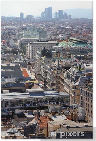 Poster Vienne vue aérienne - Villes européennes