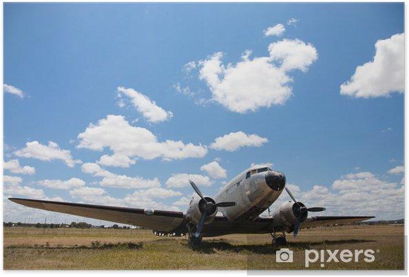 Poster Vieux Douglas DC-3 avion. - Dans les airs