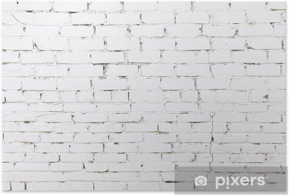 poster vieux mur de briques blanches avec des briques pixers nous vivons pour changer. Black Bedroom Furniture Sets. Home Design Ideas