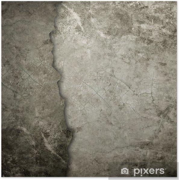 Poster Vieux mur grunge - Thèmes