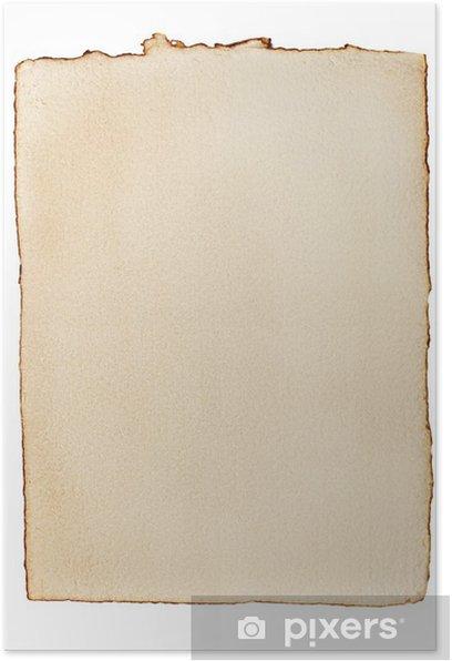 Poster Vieux papier jauni - Textures