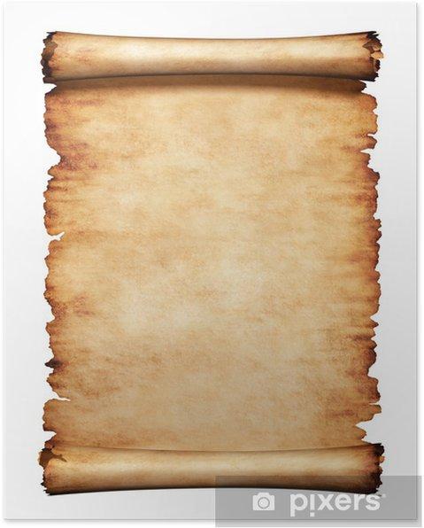 Le célèbre Poster Vieux papier parcheminé Fond de lettre • Pixers® - Nous @IY_23