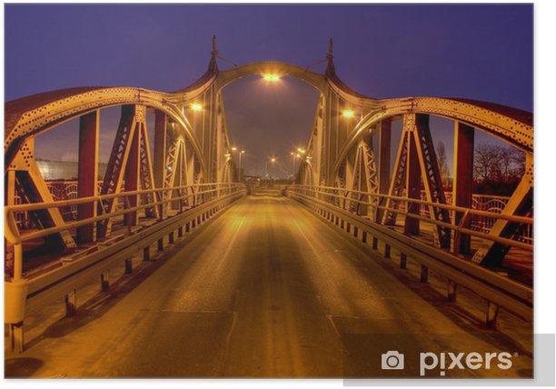 Poster Vieux pont tournant au port Krefeld - Sur la route
