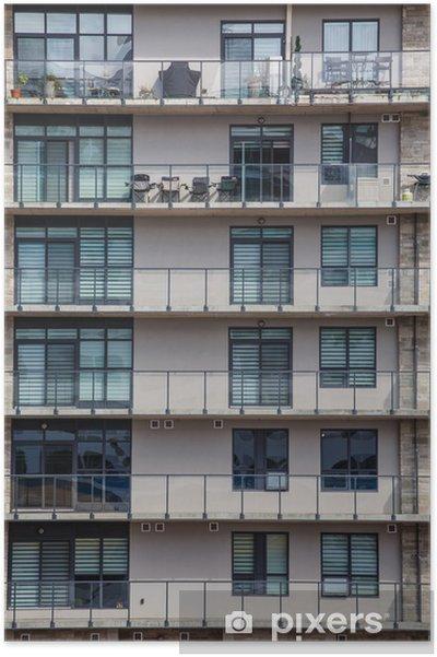 Poster Vieux Rose Immeuble avec balcons de fer - Maisons et jardins