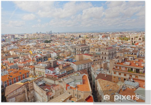 View of the historical center of Valencia Poster - Urban