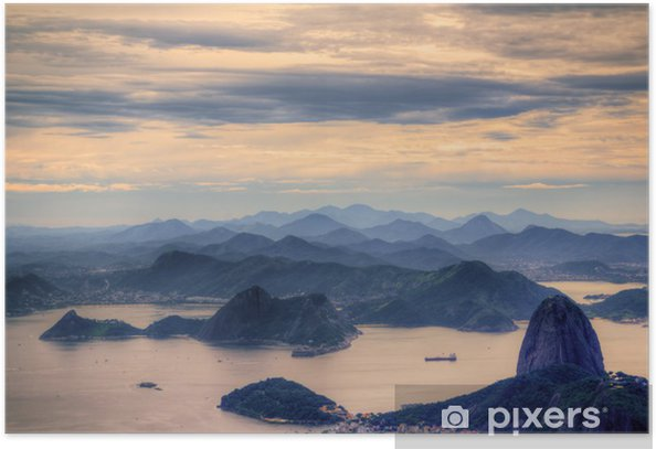 View on Sugarloaf Mountain in Rio de Janeiro Poster - Brazil