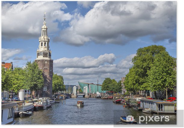 View on the famous Munttoren tower Poster - Europe