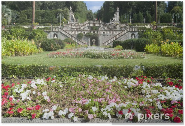 Poster Villa Garzoni, Toscane, Italie - Europe