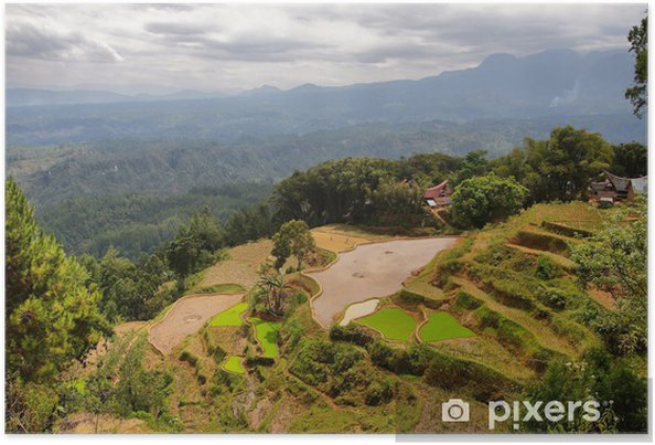 Poster Village de Limbong - Asie