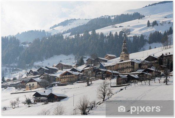 Poster Village de montagne - Vacances