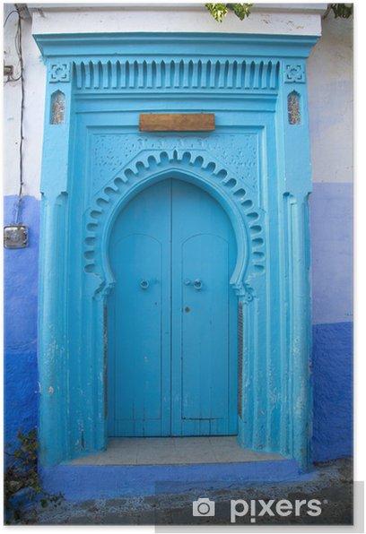 Poster Ville de Chefchaouen au Maroc - Afrique
