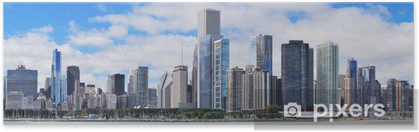 Poster Ville de Chicago skyline panorama urbain - Amérique