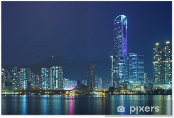 Poster Ville de Hong Kong la nuit - Thèmes