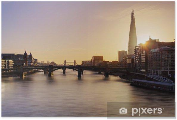 Poster Ville de Londres horizon au lever du soleil, Royaume-Uni - Thèmes
