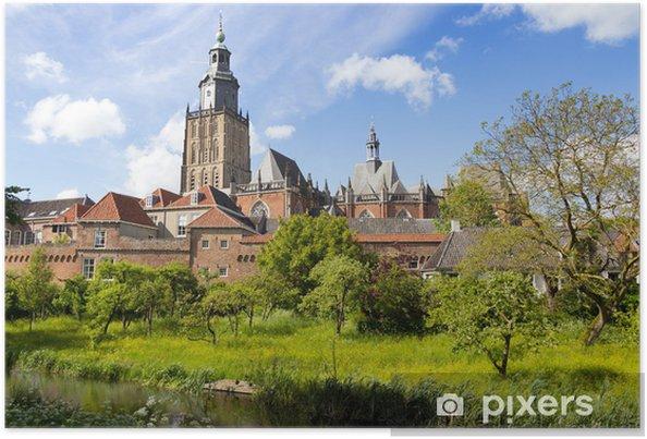 Poster Ville de Zutphen - Pays-Bas - Europe