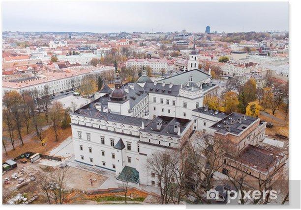 Poster Vilnius vue aérienne - Saisons
