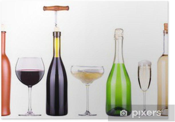 Poster Vin, champagne, bière, ensemble de cocktail - Situations