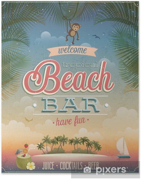 Vintage Beach Bar Poster