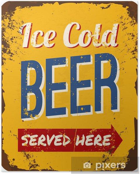 Poster Vintage Beer Plåtskylt - Alkohol