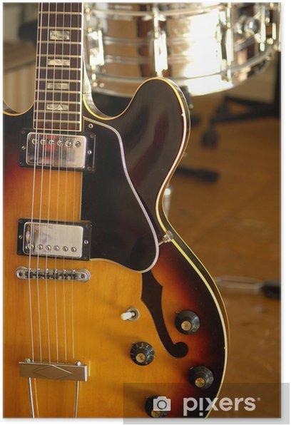 Poster Vintage guitare électrique 6 - Thèmes
