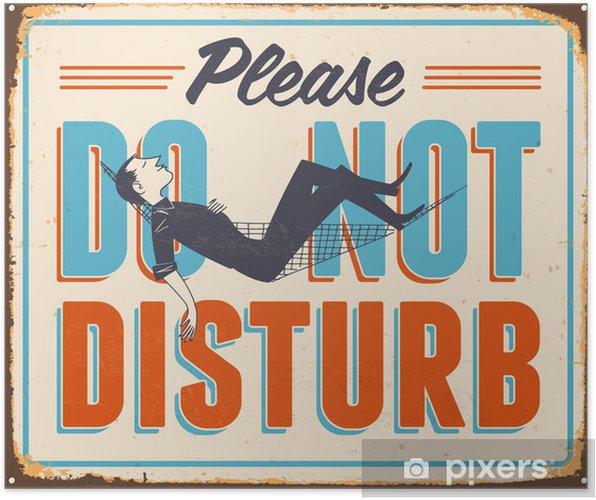 Poster Vintage Metal Sign - Vector - Grunge effekter kan tas bort - Teman