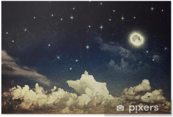 Poster Vintage nachthemel - Thema's