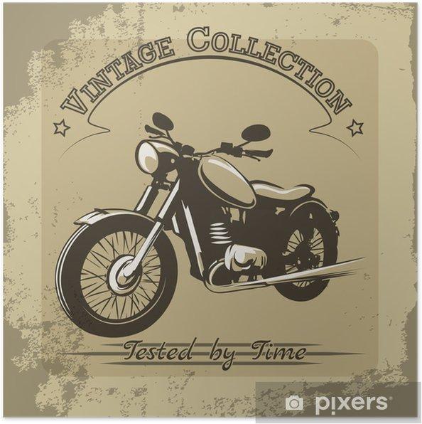 Poster Vintage Poster van de Motorfiets - Stijlen