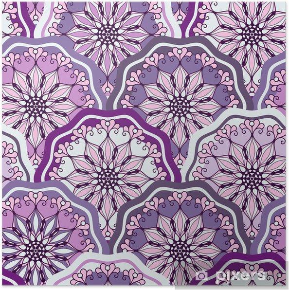 Poster Vintage seamless pattern - Fêtes internationales