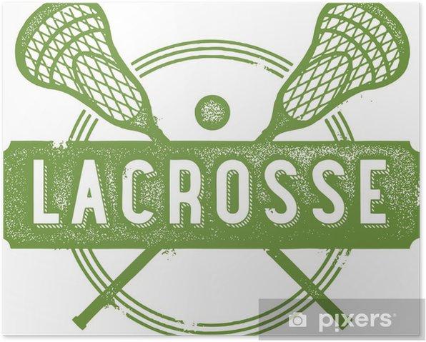 Poster Vintage Sport conception Lacrosse - Sports collectifs
