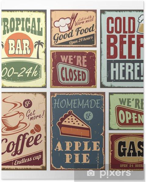 Poster Vintage-stijl tekenen - Stijlen