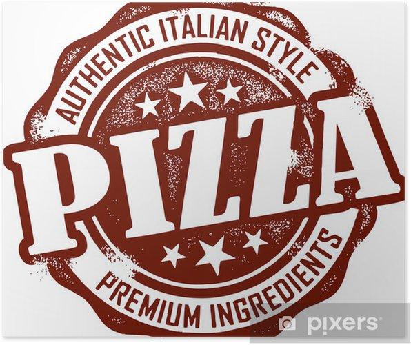 Póster Vintage Style Pizza Resto sello - Comida