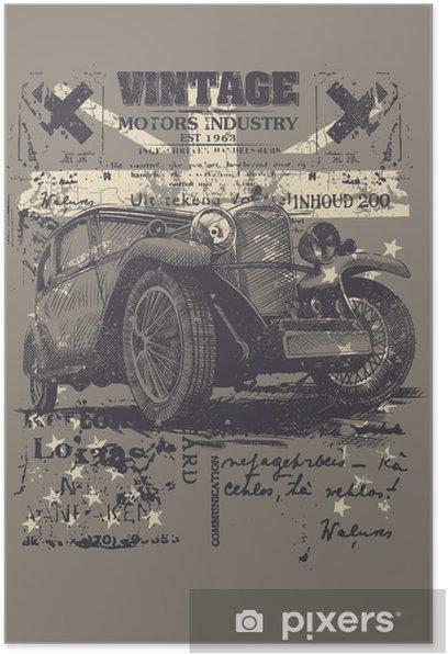 Vintage wheels Poster -