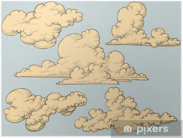 Poster Vintage wolken - Thema's